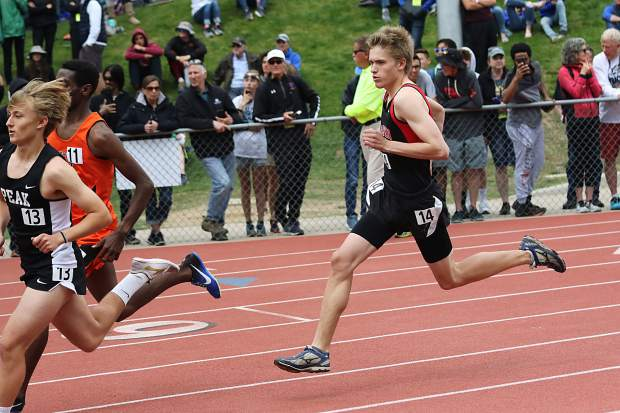 Aspen High School senior Nick Galambos competes in the boys 1,600-meter run finals on Saturday at the state track and field championships in Lakewood.