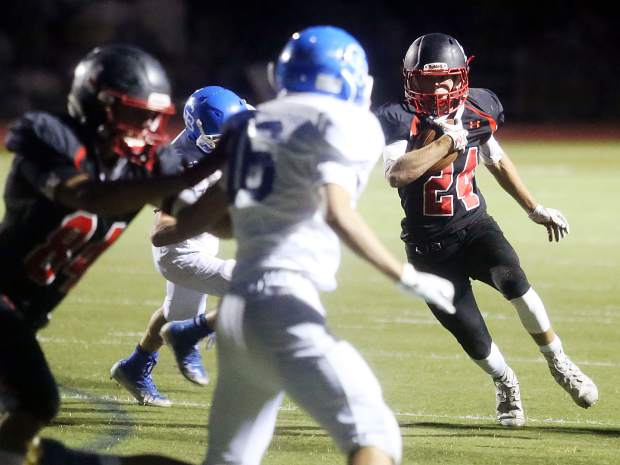 Aspen High football vs. Cedaredge on Friday, Sept. 14, 2018 in Aspen. (Photo by Austin Colbert/The Aspen Times).