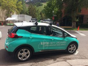 Demand on Aspen's free ride service taxes electric carts