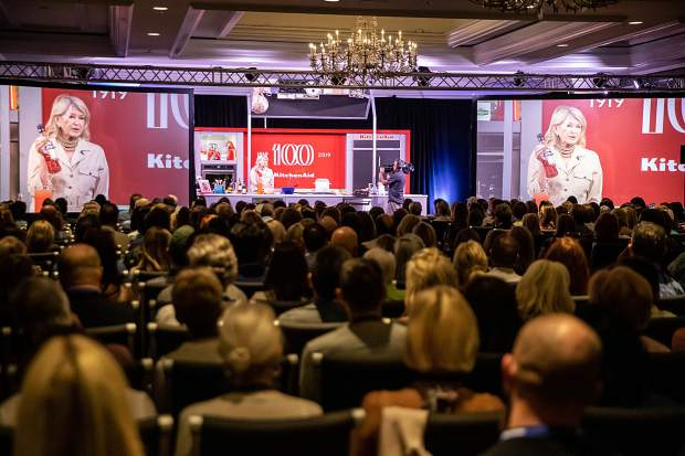 A full room listened and laughed Friday morning as Martha Stewart gave her first Food & Wine Classic seminar.
