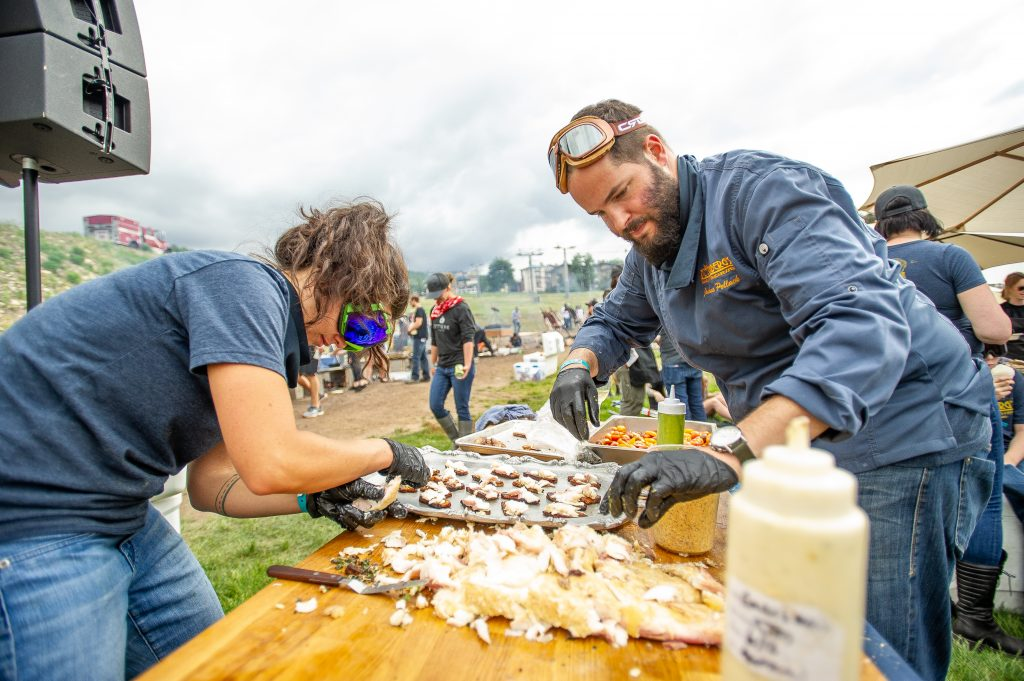Thousands of pounds of meat are cooked and consumed at the Heritage Fire event in Snowmass Village.