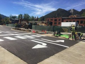 Construction yields for partying in Aspen this weekend
