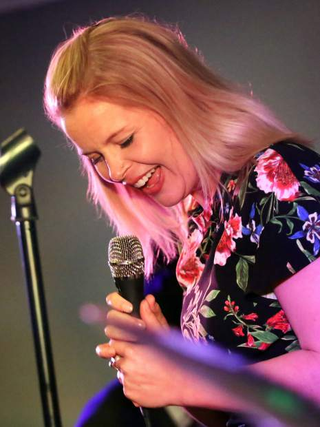 New York-based Canadian musician Bria Skonberg laughs during her set as part of the JAS June Experience on Friday, June 22, 2019, in Aspen. (Photo by Austin Colbert/The Aspen Times)