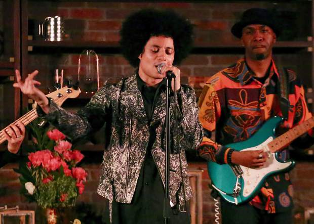 Jose James performs Sunday, June 23, 2019, at the St. Regis Aspen. It was the final day of the new Jazz Aspen Snowmass June Experience. (Photo by Austin Colbert/The Aspen Times)