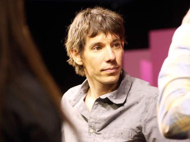 Climber Alex Honnold meets with fans after talking during an Aspen Ideas Festival discussion on Monday, June 24, 2019, inside the St. Regis hotel in Aspen. (Photo by Austin Colbert/The Aspen Times)