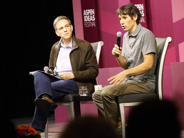 Climber Alex Honnold talks 'Free Solo'experience as part of Aspen Ideas Festival