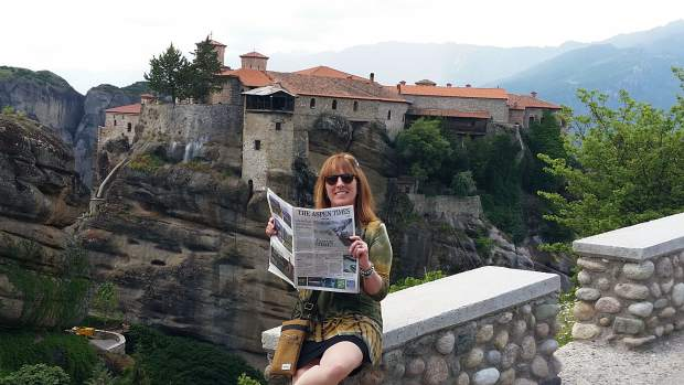 Alix Hoch, and her husband, Bill, recently took their Aspen Times to central Greece, where they visited the monasteries at Meteora. Email your
