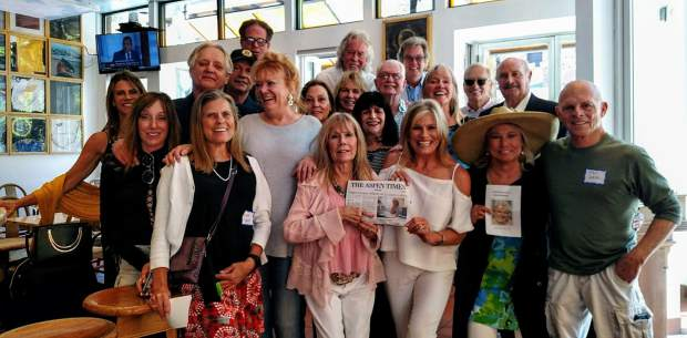 Danny's Wardwell's Celebration of Life was held June 9, with festivities taking place from Little Nell to Mezzaluna to Red Onion. Friends of his from the '7s and 80s' display an Aspen Times while at the Mezz