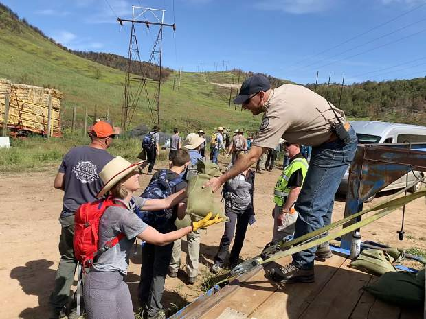 Nearly 300 volunteers step in to help reseed Basalt Mountain after Lake Christine Fire