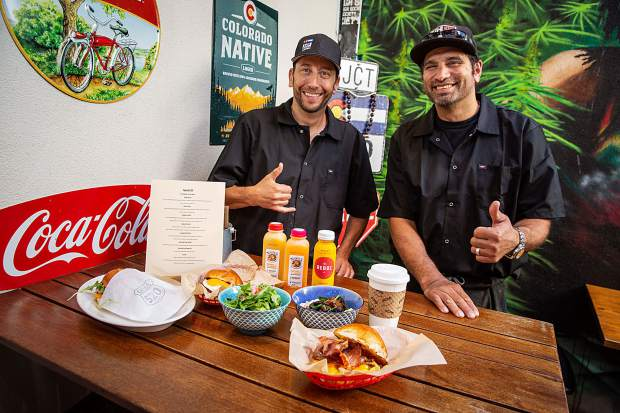 Chefs Greg Topper, left, and Troy Selby last week rolled out Eggs@520, which serves breakfast from 7 to 10 a.m. from the 520 Grill space on Cooper Avenue.