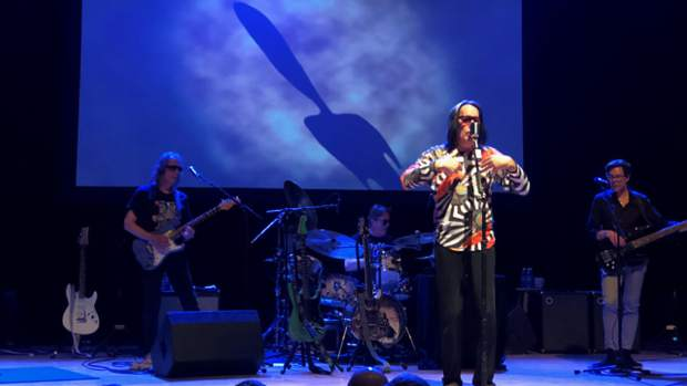 Todd Rundgren and his band performing at the Boulder Theatre on May 30.