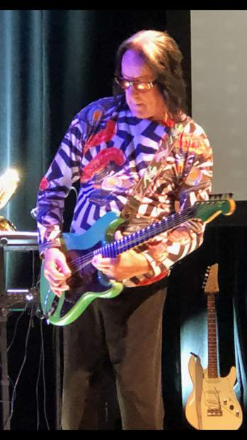 Todd Rundgren performing at the Boulder Theatre on May 30.