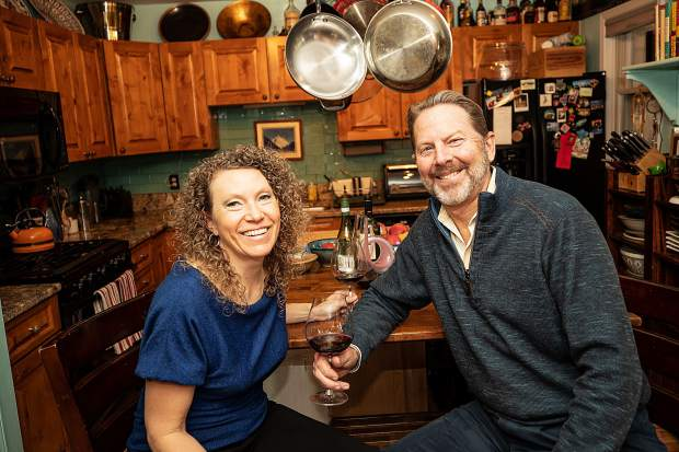 Master Sommelier Jay Fletcher and his wife Lynn at their home on Juan Street in Aspen.