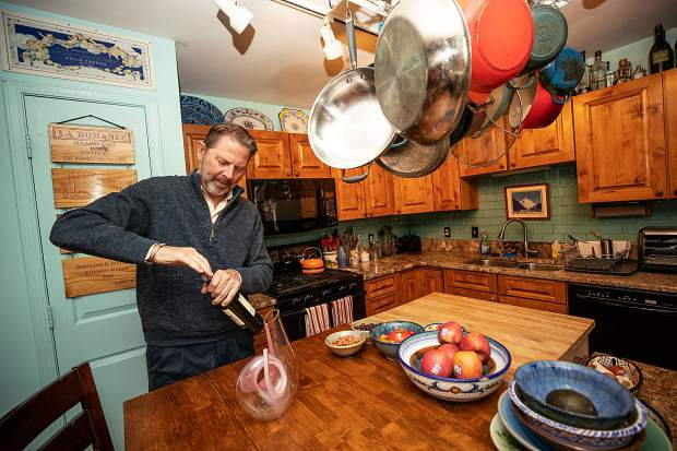 Master Sommelier Jay Fletcher at his home on Juan Street in Aspen.
