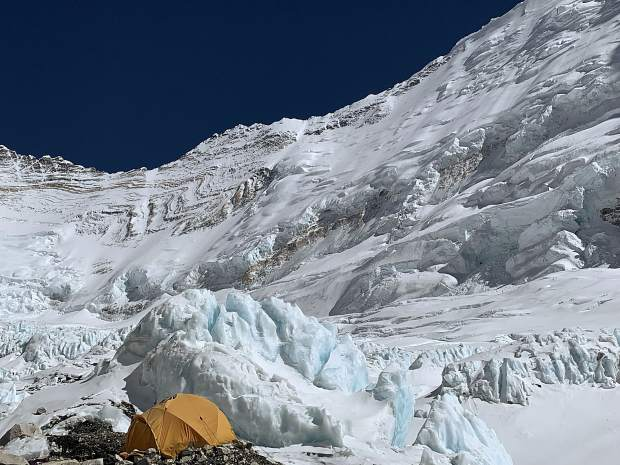 The beauty of Camp II on Mount Everest.