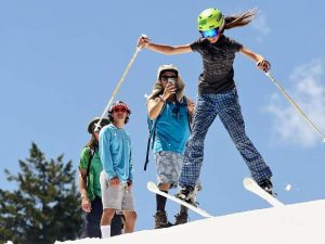 Pro skiers Alex Ferreira, Cassidy Jarrell chip in at AVSC Glacier Camp