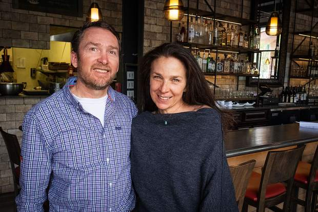 Owners Robin and Steve Humble at Free Range Kitchen & Wine Bar in Basalt.