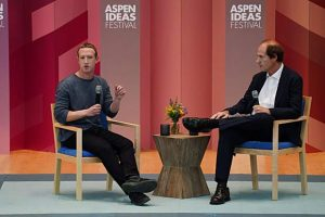 Mark Zuckerberg, at Aspen Ideas, says combatting election interference 'above our pay grade'