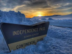 VIDEO: We took a drive up Independence Pass on opening day for sunset