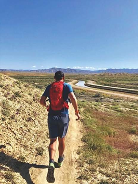 Charlie Lucarelli takes a spin on the hard packed trails in Fruita, Colo., training for the Leadville 100 in August.