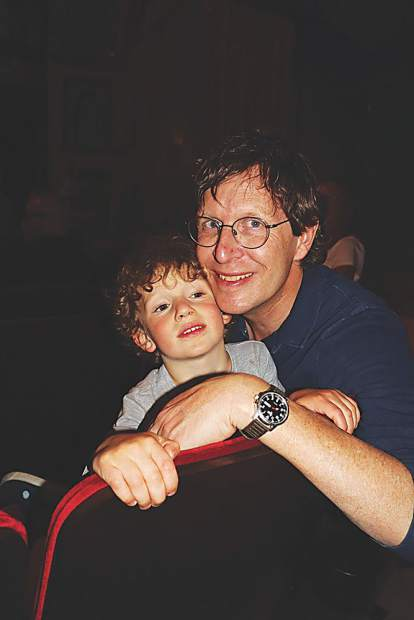 Michael Miracle with his little man, Marcel.