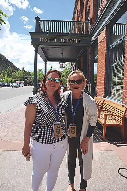 Lori Lefevre who runs the media department for the Food & Wine Classic every year and Liz Malone with Meredith Corporation.