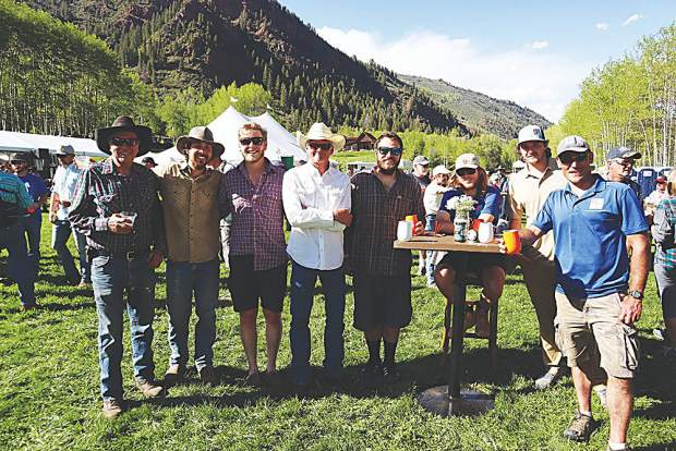 Jason Lee Beavers, front and center in a cowboy hat, surrounded by friends old and new at T-Lazy-7 Ranch, which he's proudly called home for years.