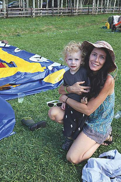 Shannon Jones and her young son, Jonah.
