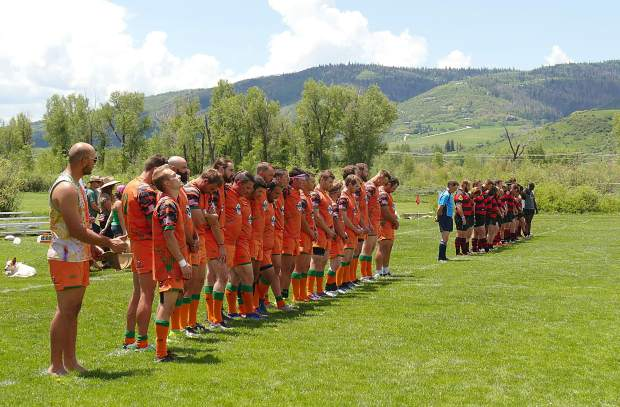 The Gentlemen of Aspen Rugby Club plays Saturday, June 15, 2019, at Steamboat Springs, winning 20-15.