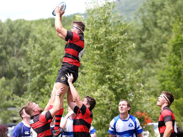 The Gentlemen of Aspen Rugby Club hosts Breckenridge on Saturday, June 29, 2019, at Rio Grande Park in Aspen. (Photo by Austin Colbert/The Aspen Times)