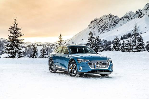 The Audi e-tron is the company's all-electric vehicle. Four of the e-trons will be available to test drive at the Silver Queen Gondola plaza June 12-30.