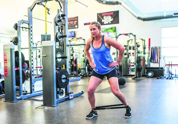 U.S. Ski Team member Alice McKennis works out Thursday at the Minturn Fitness Club. McKennis was born in New Castle and now lives in Minturn.