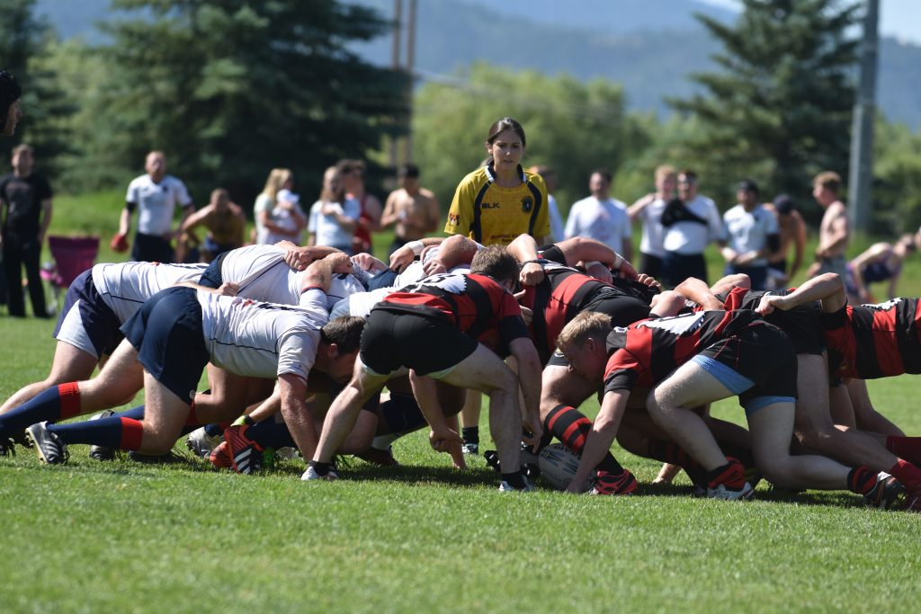 The Gentlemen of Aspen Rugby Club play Saturday, July 13, at the Cowpie tournament in Steamboat Springs.