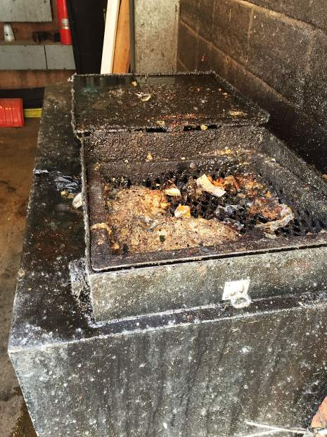 Uncleaned grease traps in the downtown core of Aspen can serve as attractants to bears.