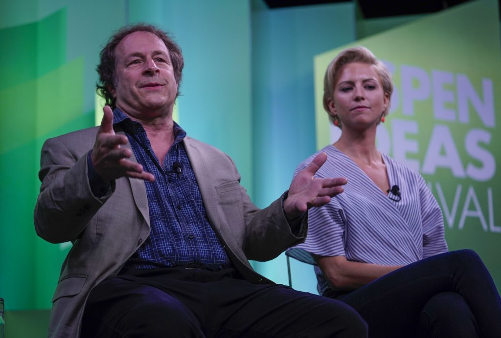 "'Bad Drugs Are Looking Good"" panelists (L to R): Rick Doblin and Mallory Loflin."