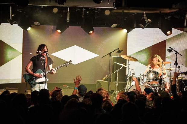 Black Pistol Fire performing at Belly Up Aspen.