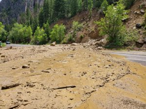 Highway 133 open south of Carbondale near Penny Hot Springs after mudslide