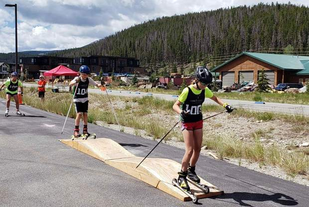 Skiers take part in Breckenridge's first-ever Roller Ski Festival over the weekend.