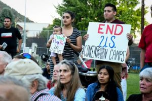 Glenwood-area residents rally as part of 'Lights for Liberty' event against human detentions