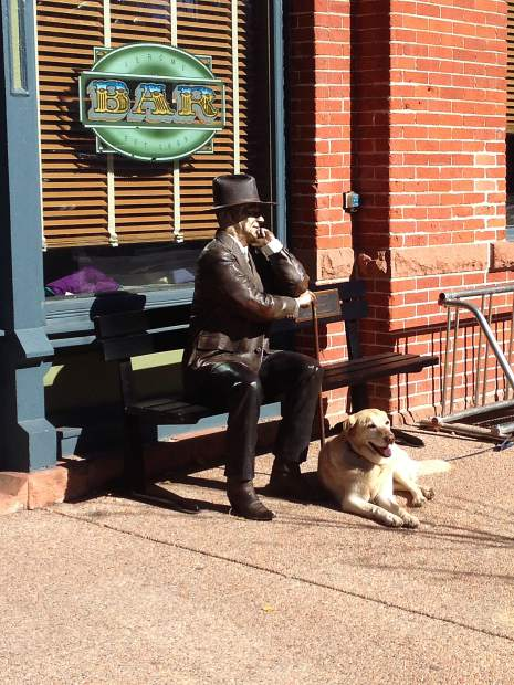 Snowmass Village resident Scott Arthur recently found some dogs seeking shade one summer day in front of a couple of Aspen institutions — the Aspen Fire Museum on East Hopkins Avenue and the J-Bar on East Main Street.