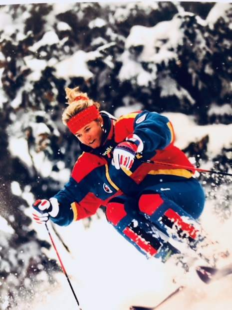 Aspen's Nancy Oakes Hall, seen here skiing, is the namesake behind a new scholarship for team-level female athletes at the Aspen Valley Ski & Snowboard Club.
