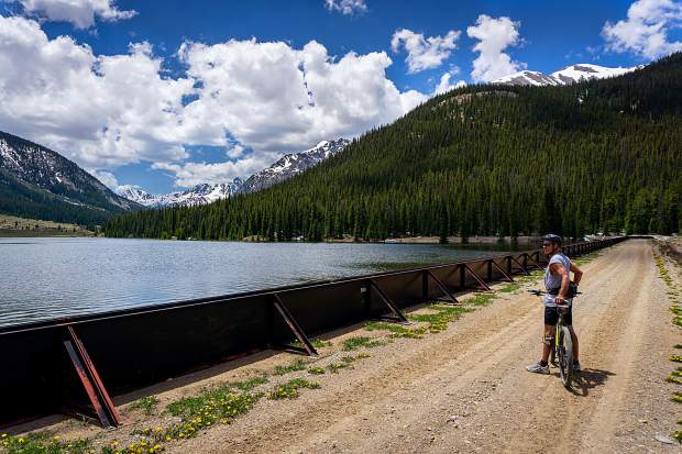 Director of Pitkin County Public Works Brian Pettet overlooks the Grizzly Resevoir on a recent day.