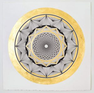 Artist Gemma Danielle infuses reiki energy into mandala drawings at Skye Gallery