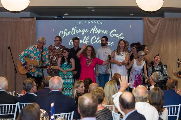 People take part in the 16th annual Challenge Aspen gala on Sunday, July 28, 2019, at the Viceroy Snowmass.