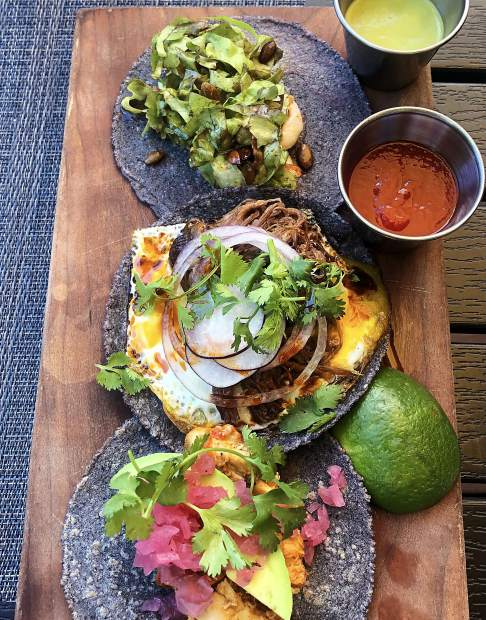Bosq's new Mexican lunch menu includes tacos.