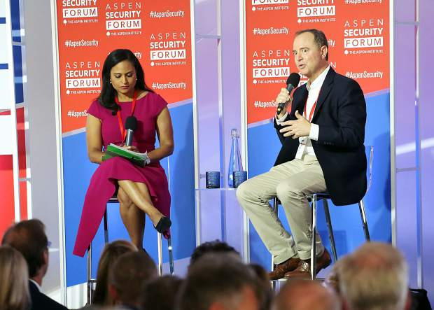 Congressman Adam Schiff talks democracy, 2020 elections in Aspen Security Forum finale