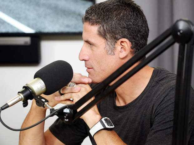 Former professional cyclist George Hincapie takes part in Lance Armstrong's