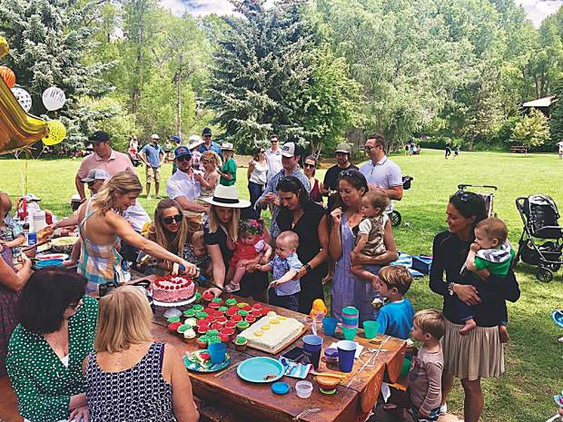 A zoo-themed birthday party for six little one year olds at Herron Park on June 30.