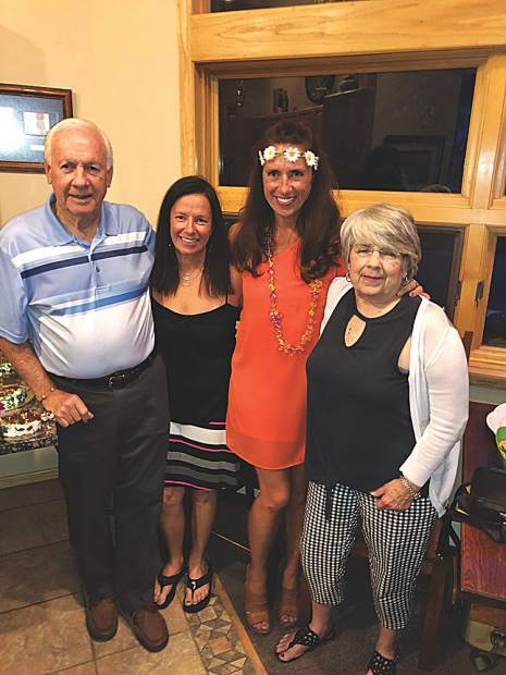 Charles, Christy, Stephanie and Beverly Thurston celebrate Stephanie's 50th birthday at a party on June 26.