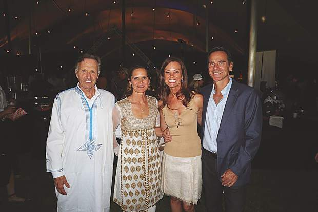 Bob and Soledad Hurst with Lisa and George Baker at Boogie's Bash.